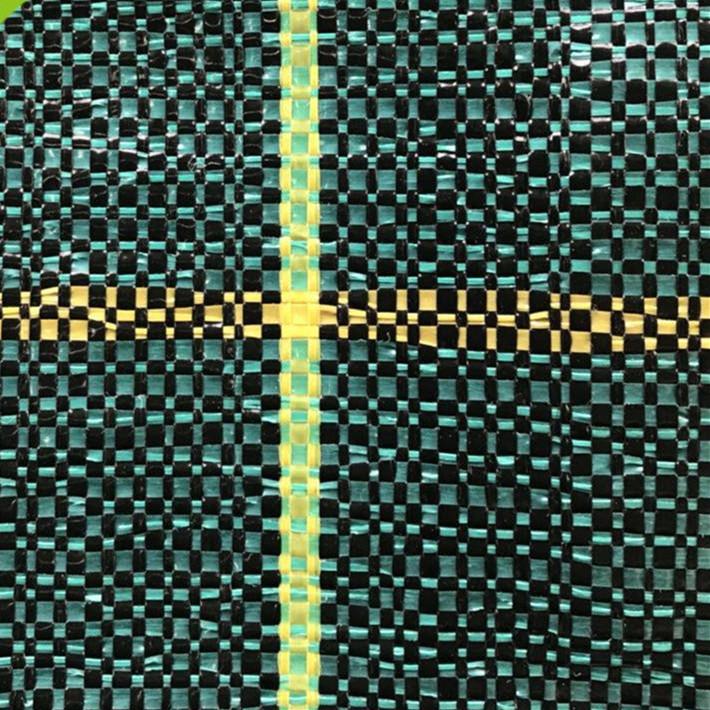 schwarz grün Unkraut Matte / Schlitz Zaun