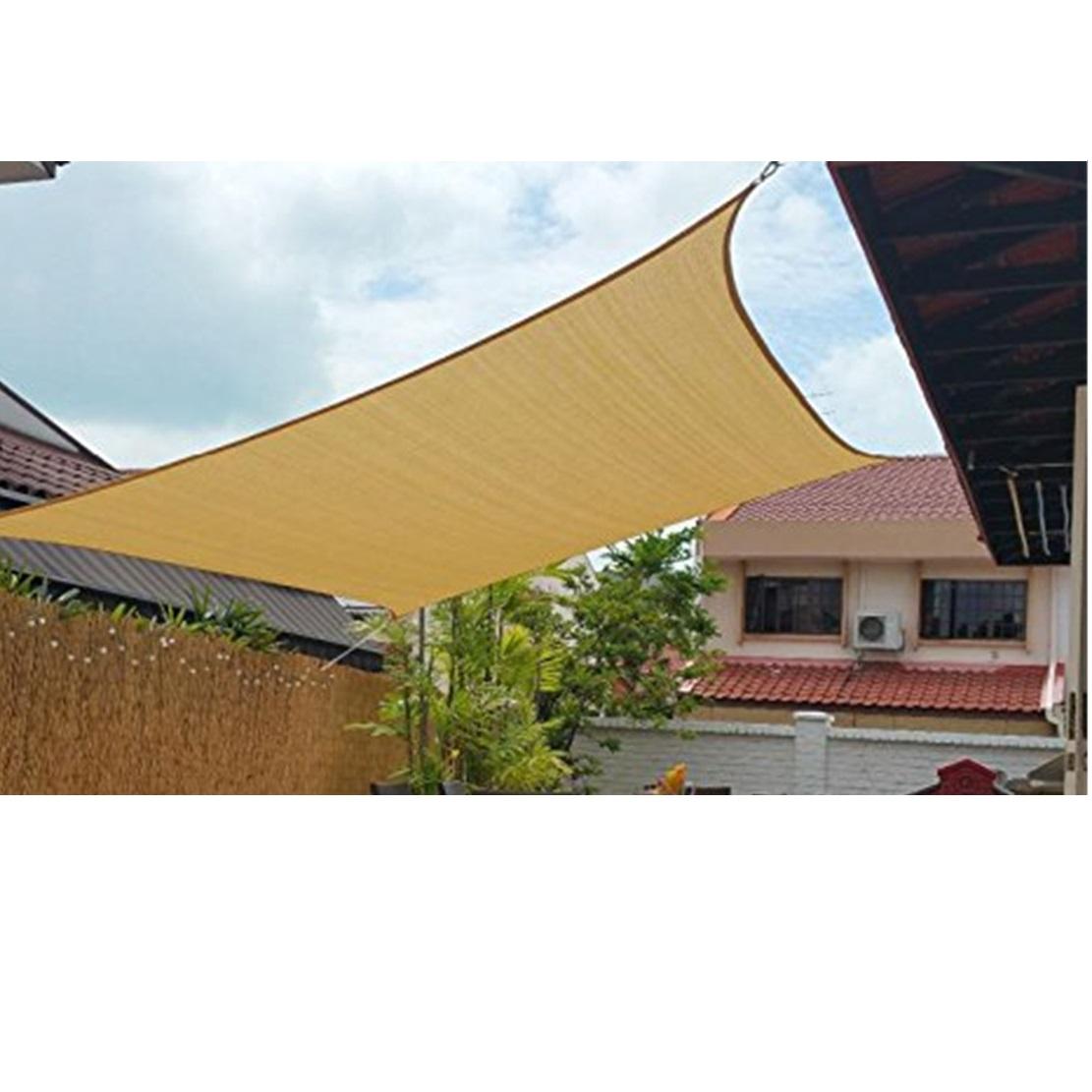 Swimmingpool HDPE tan Farbe wasserdicht Sonne Sonnensegel, Qualitäts-Outdoor-Netz-Zelt ,Kommerziell 95 Shade Cloth