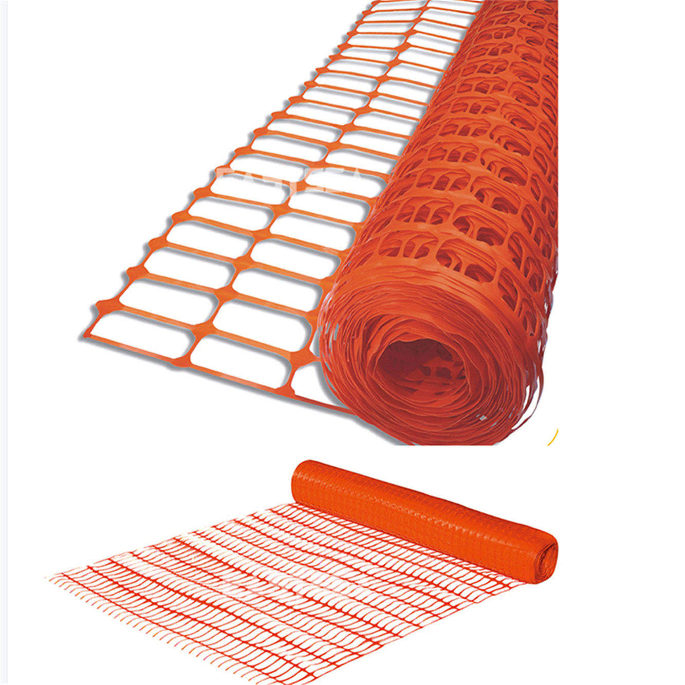 1x50m Orange Mesh Safety Fence