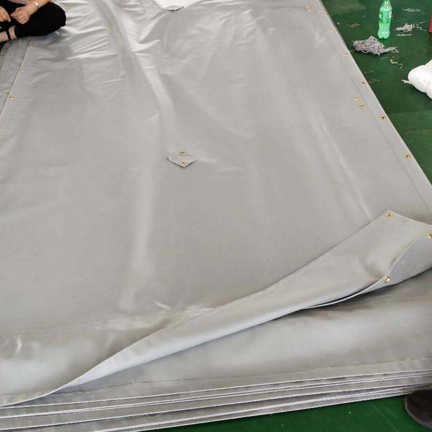 teloni per impalcature fonoassorbenti per barriere architettoniche / in PVC per costruzioni