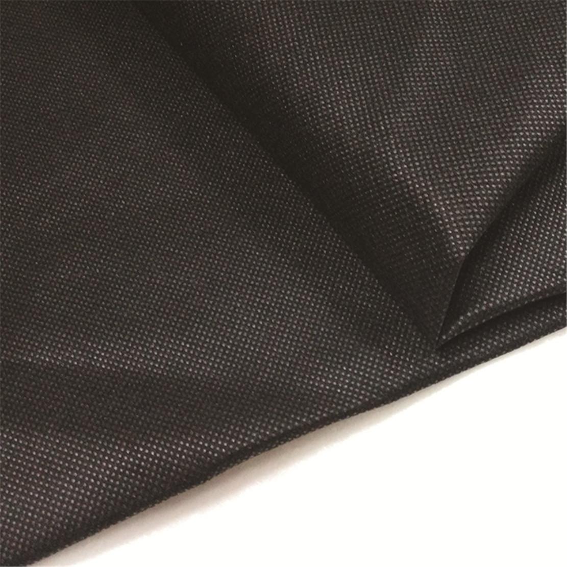 polipropileno pp esteira de tecido de controlo de ervas daninhas / não tecidos agricultura preto 1.6m