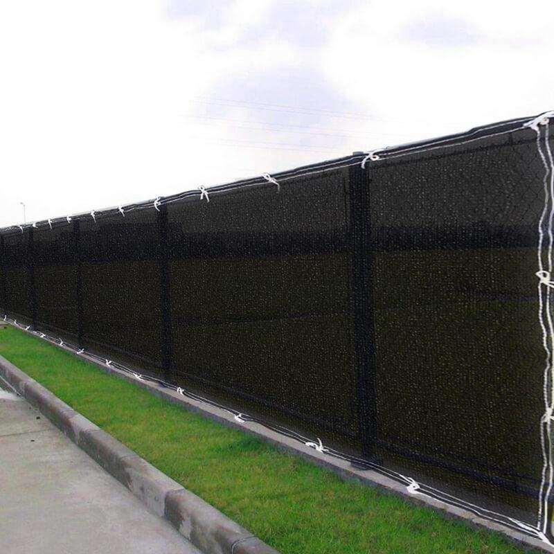 paño de la cortina negro / pantalla de privacidad de pantalla / balcón